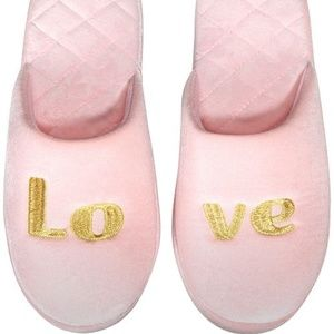 INC Love Velour Scuff Slip On Slippers Slides Smal